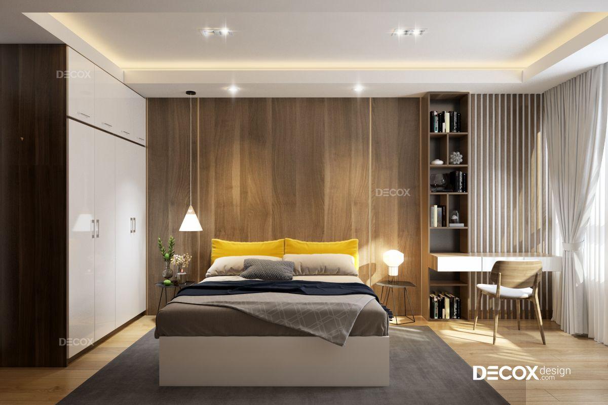 Thiết kế nội thất chung cư Sky Center 107m2