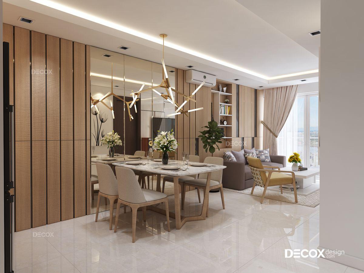 Thiết kế nội thất chung cư Sky Center 74m2