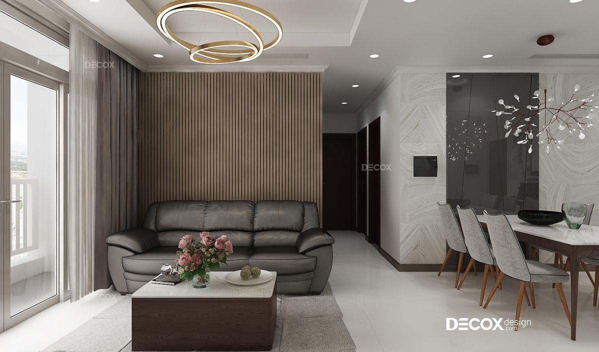 Thiết kế nội thất chung cư Vinhomes Central Park 74m2