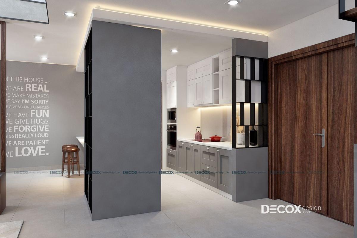 Thiết kế nội thất căn hộ duplex Opal Riverside 130m2