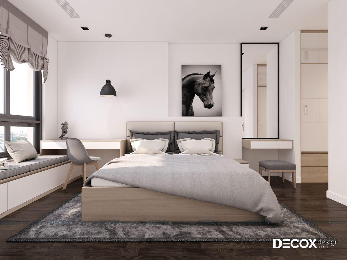 Thiết kế nội thất căn hộ The Sun Avenue 70m2