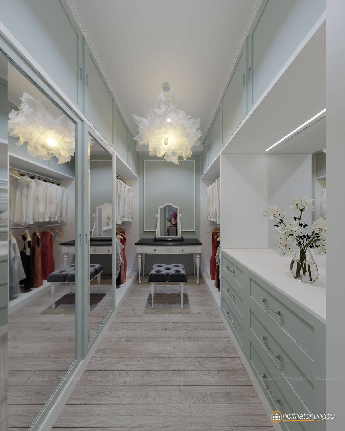 thiet ke noi that the sun avene 79m2 de190027tc 11 closet noithatchungcu